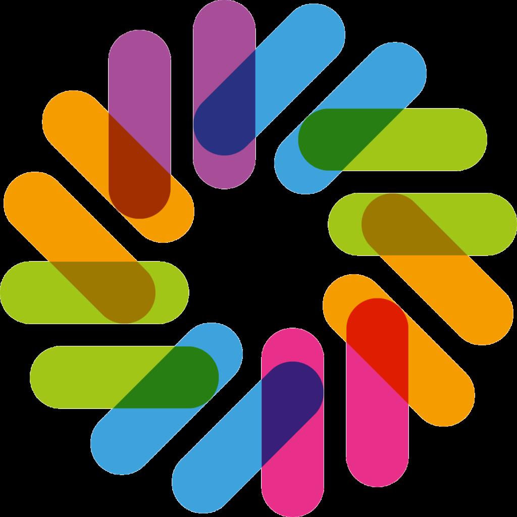 Logo SYMBIOSYS met verschillende kleuren.